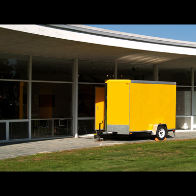 the yellow trailer mobile art