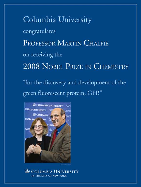 Columbia University Congratulates Professor Martin Chalfie