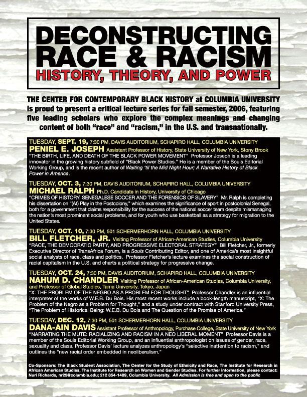 the social problem of racism and