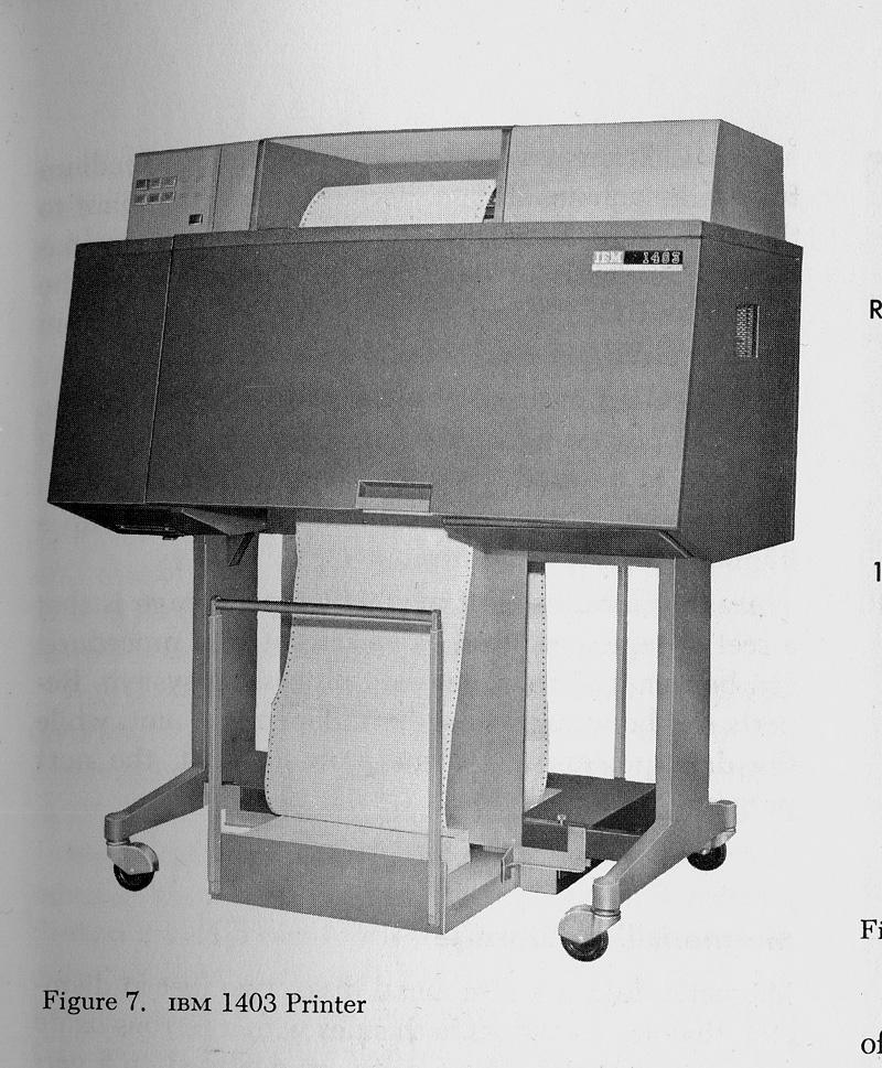 The IBM 1403 Printer