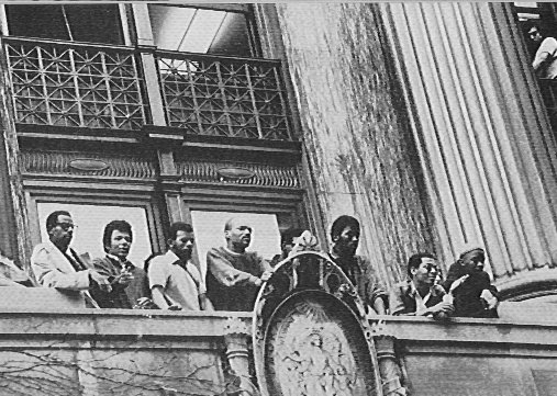 Black students occupying Hamilton Hall Columba University April 1968