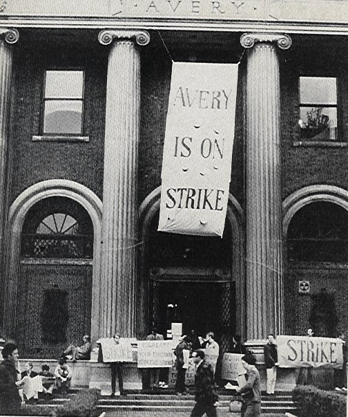 Picketing Avery Hall, Columbia University, 1968