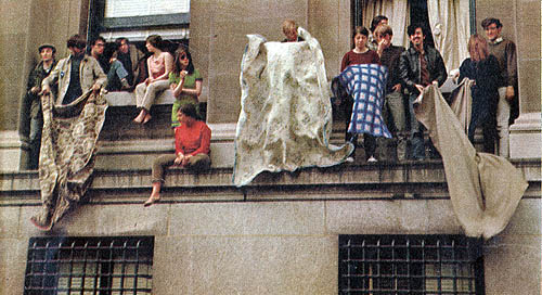 Columbia University 1968 - Low Library blanket shakeout