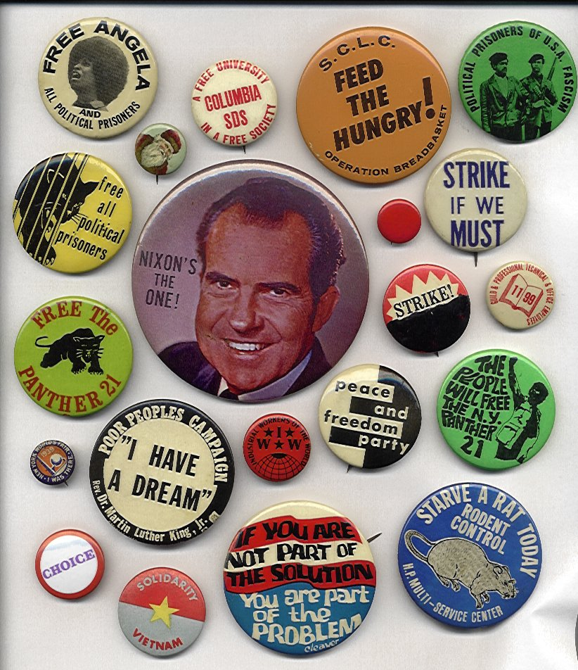 Columbia University 1968 - More Buttons
