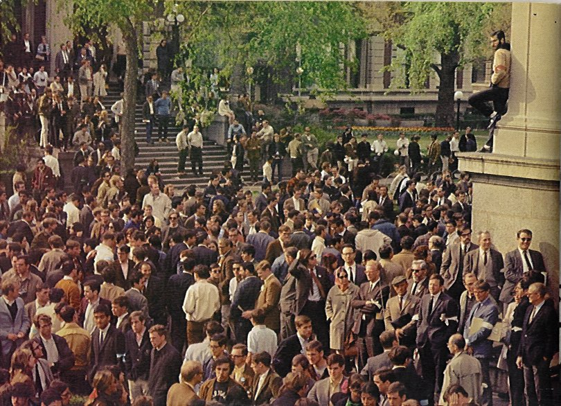 Columbia University 1968 - The scene outside Low Library