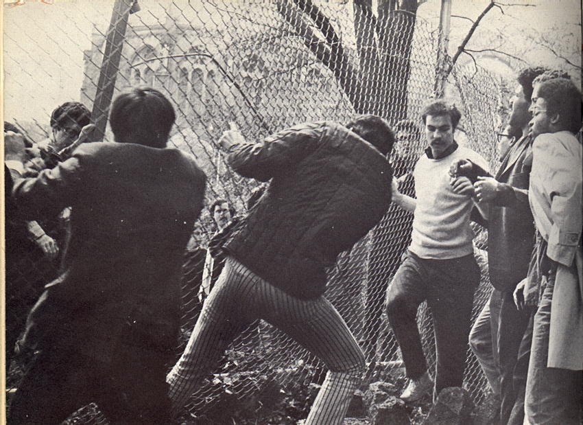 Columbia University 1968 - Morningside Park Gym Site, April 23