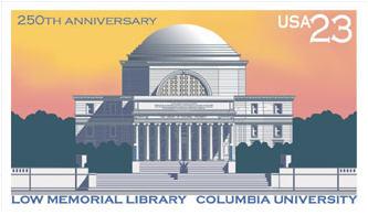 Columbia University 250th anniversary commemorative stamp