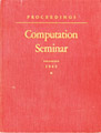 IBM Computation Seminar 1949 Proceedings