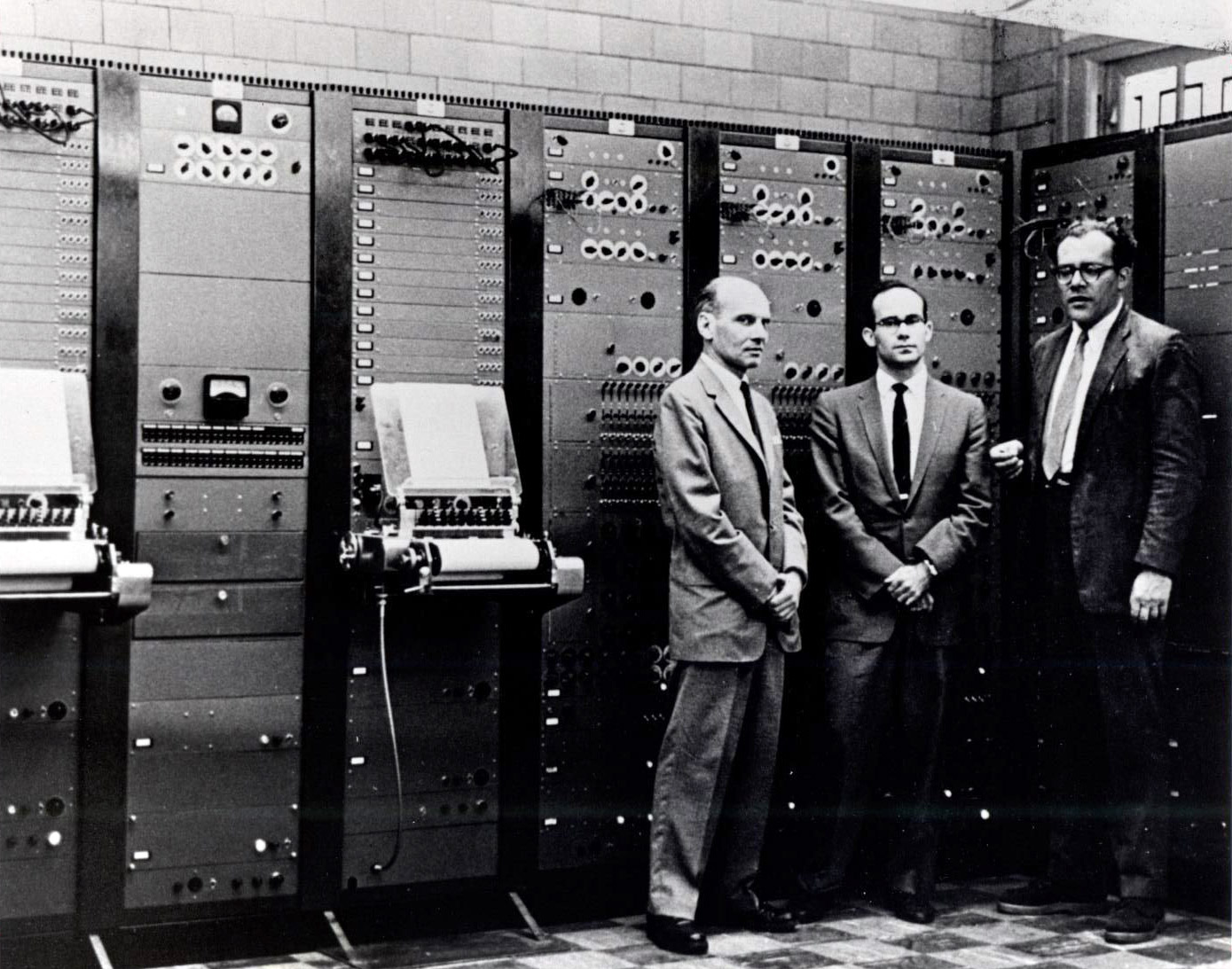 photograph from 1958 of the RCA Mark II Synthesizer