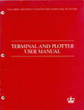 Terminal and Plotter Manual cover