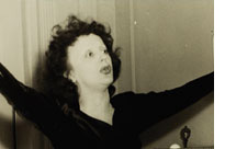 Edith Piaf singing at the Maison Française, November 16, 1947.