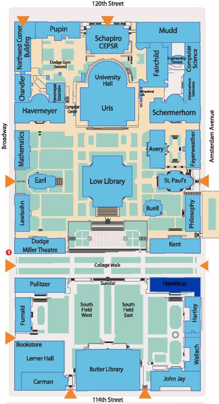 columbia university campus map pdf