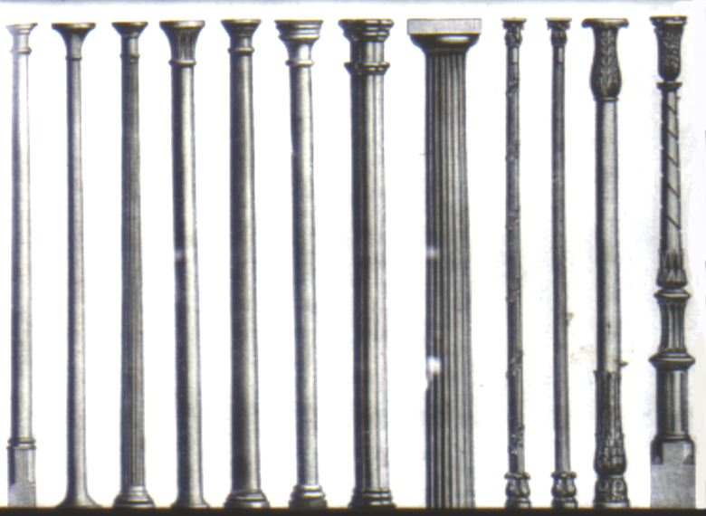 Cast Iron Columns : Brief history of framed and walled structures