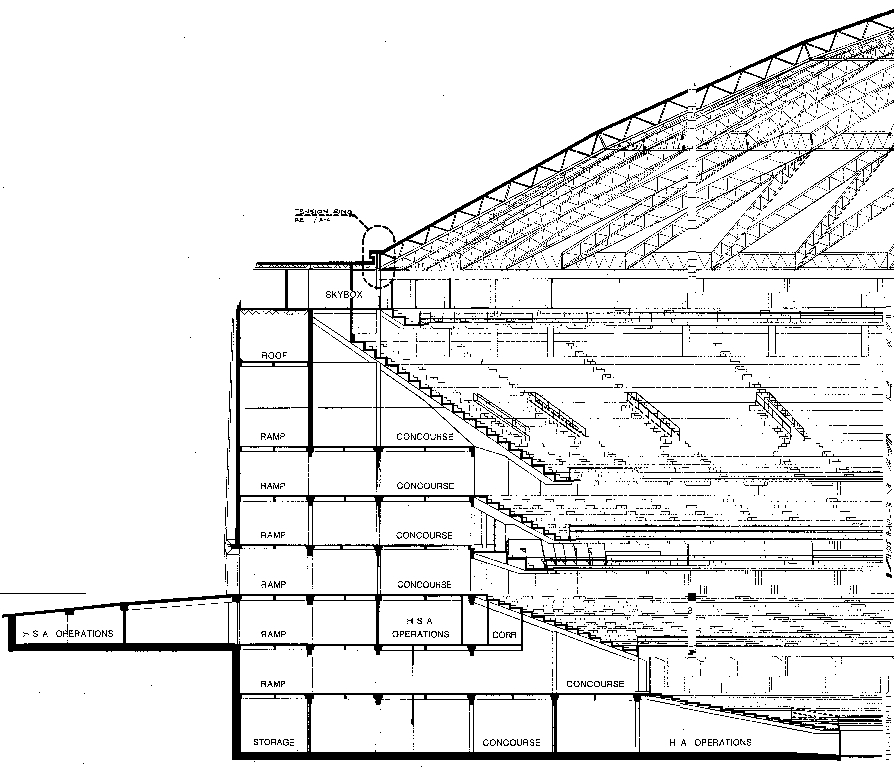 Astrodome construction documents building section malvernweather Choice Image