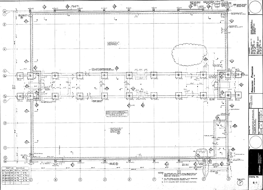Foundation and ground floor plan for Building foundation plans