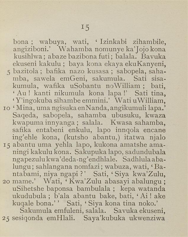 15 Bona Wabuya Wati Izinkabi Zihambile Angiziboni Wahamba Nomunye KaJojo Kona Kusihlwa Abaze Bazibona Futi Baiala Bavuka Ekuseni Kakulu Baya