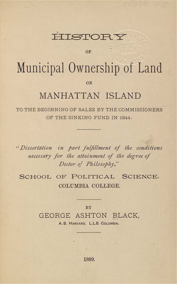 Manhattan Island History on Manhattan Island to The