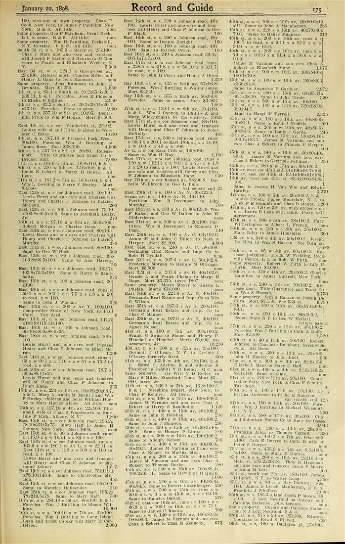 Columbia University Libraries Real Estate Record And