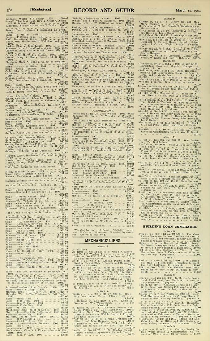 Columbia University Libraries: Real estate record and builders ...
