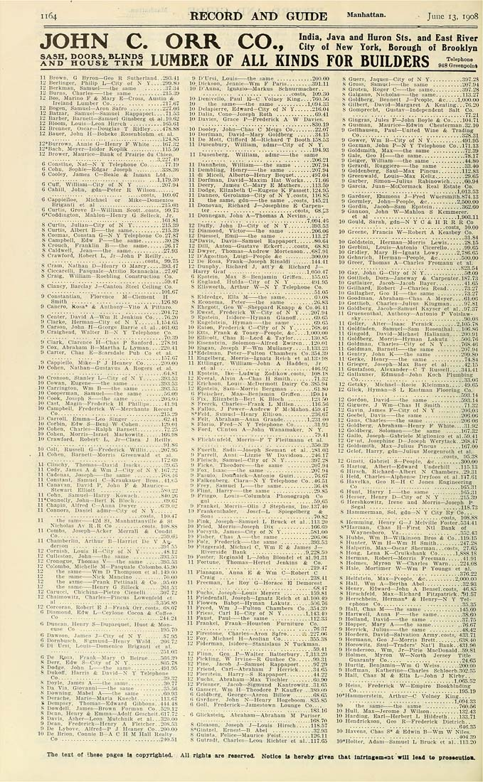 Columbia University Libraries: Real estate record and