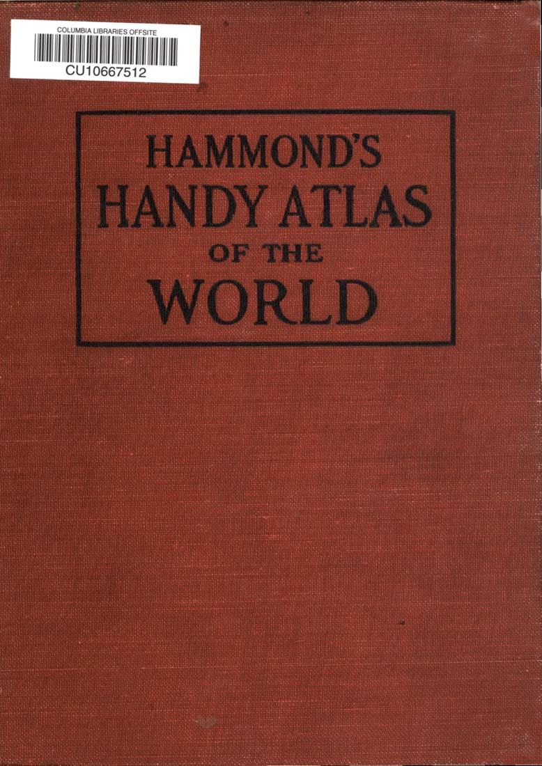 Hammond S Handmade Candy: Hammond's Handy Atlas Of The World