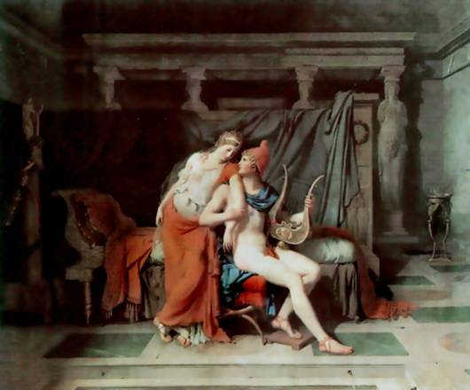 relationship between paris and helen in the iliad