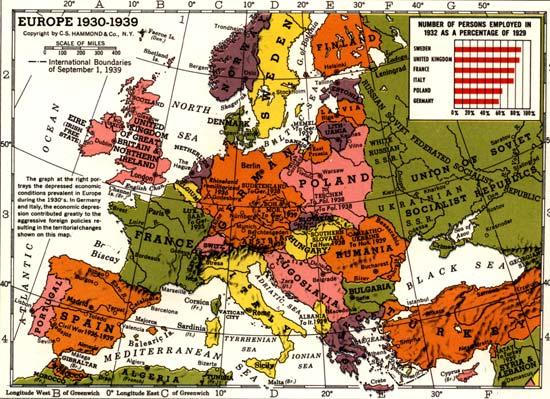 Interwar Europe Map.Europe 1930 Map Casami