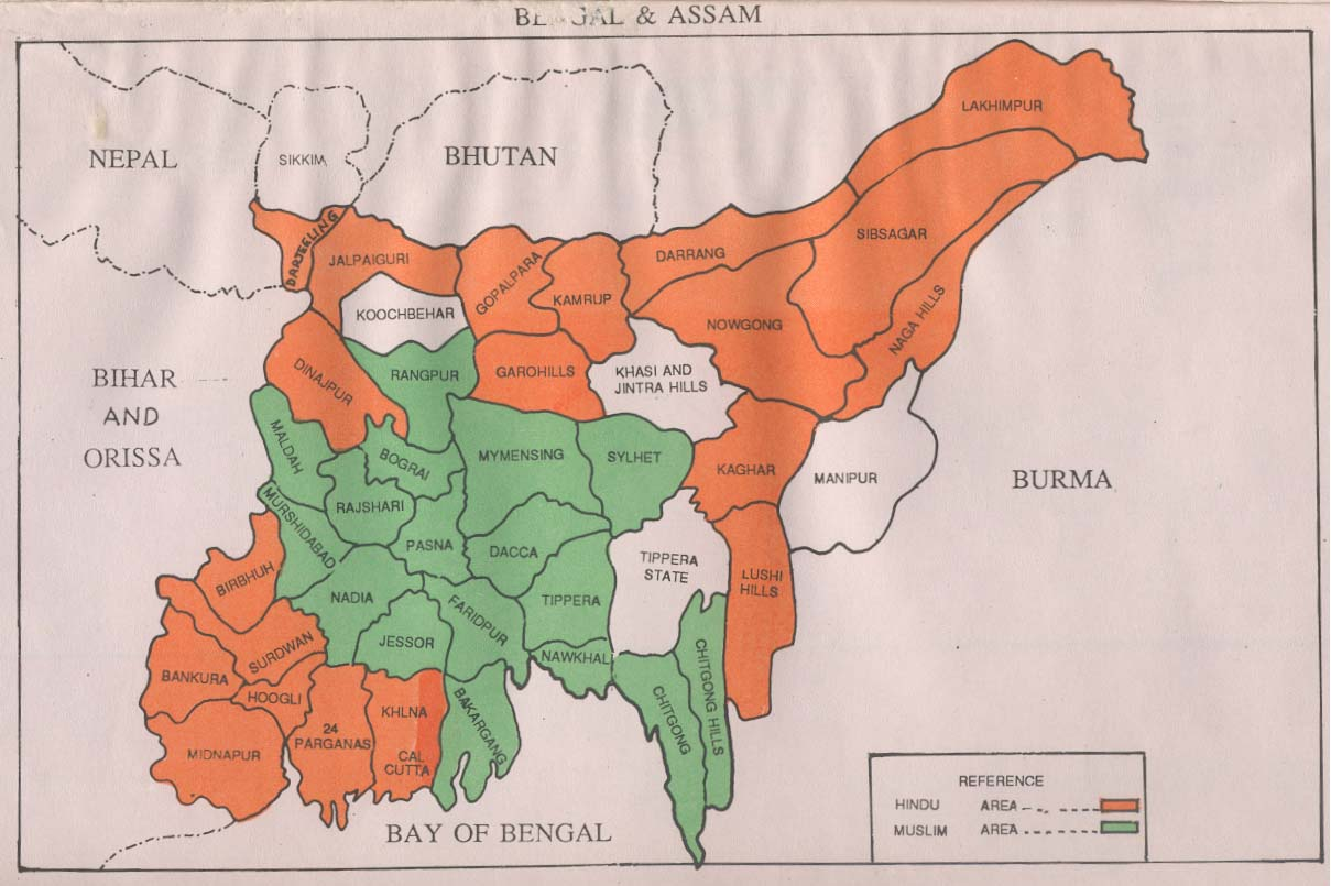 How Did Partition Change The Religious Map In Bengal South Asia - Population map of us in 1947