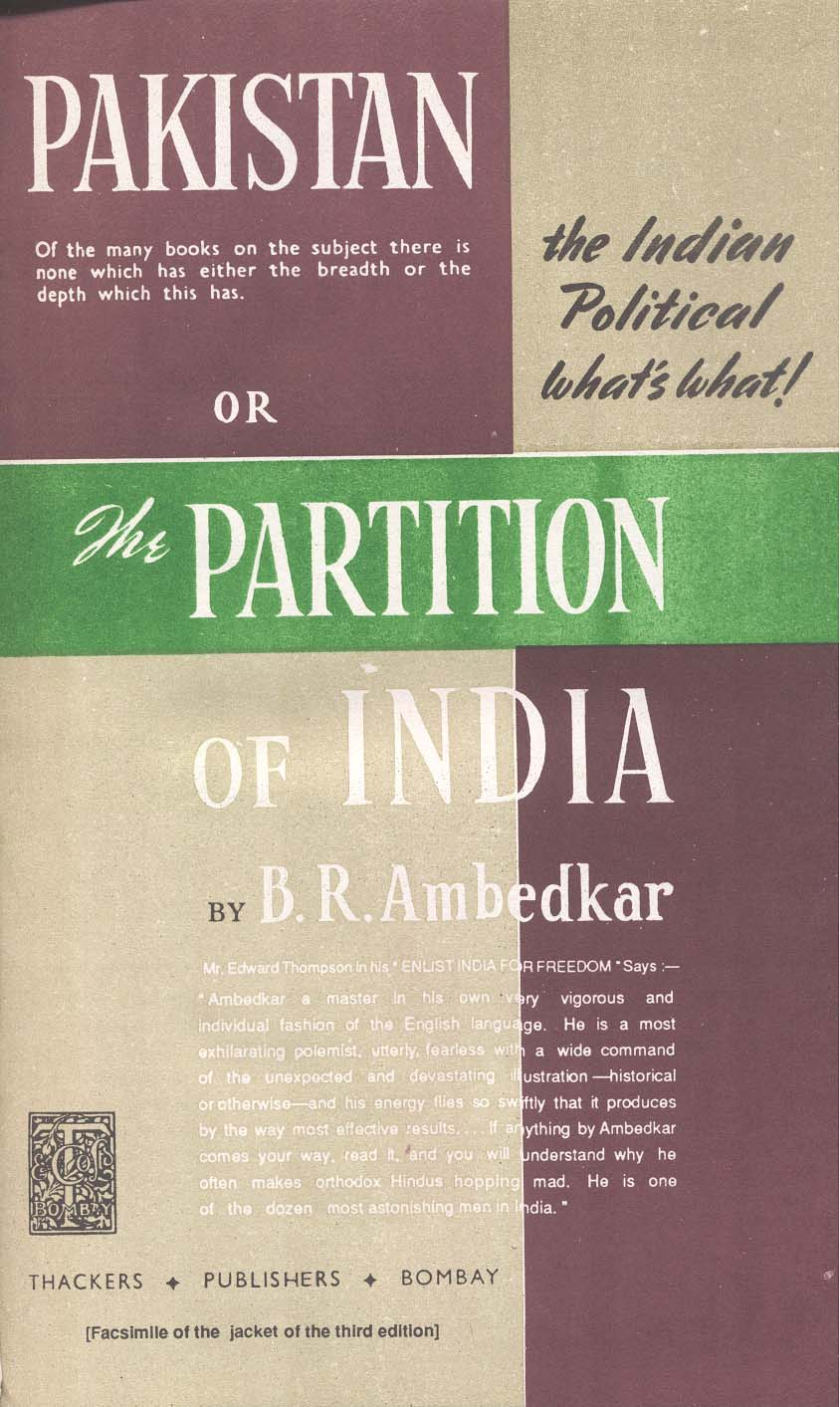 Pakistan Or The Partition Of India By Dr B R Ambedkar