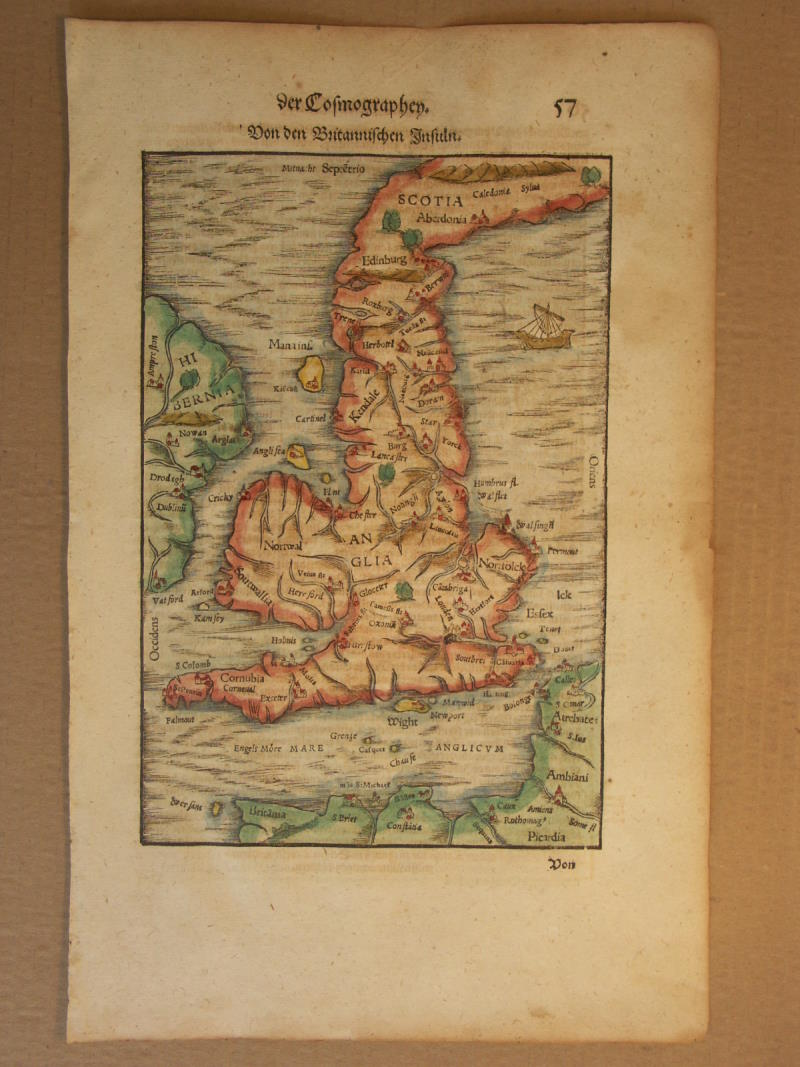Map Of England 1600.Aa Britain