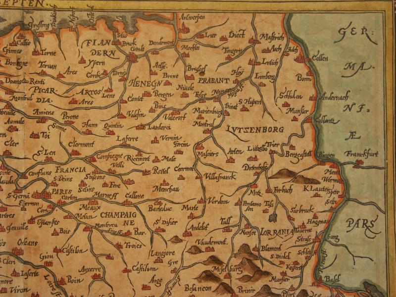 Map Of France 1600.Aa France