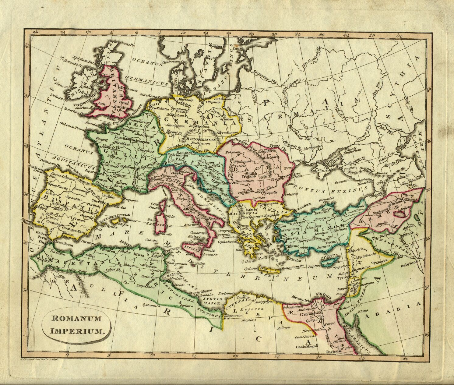 Ostell1814 historical map of the roman empire gumiabroncs Images
