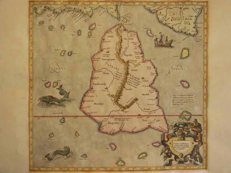 Map Of Upper Asia.Mercator1578