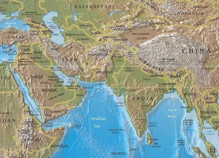 Maps Of South Asia An Organized Collection - South asia map