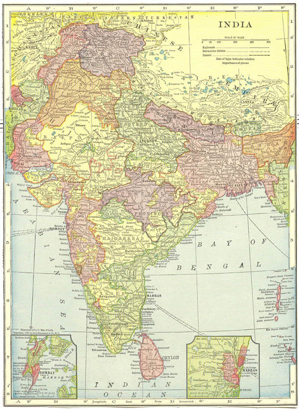 World Map India