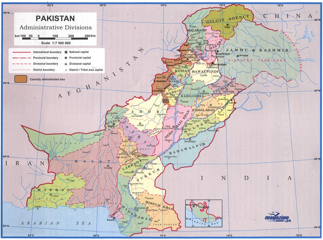 Pakadmin - Map of pakistan