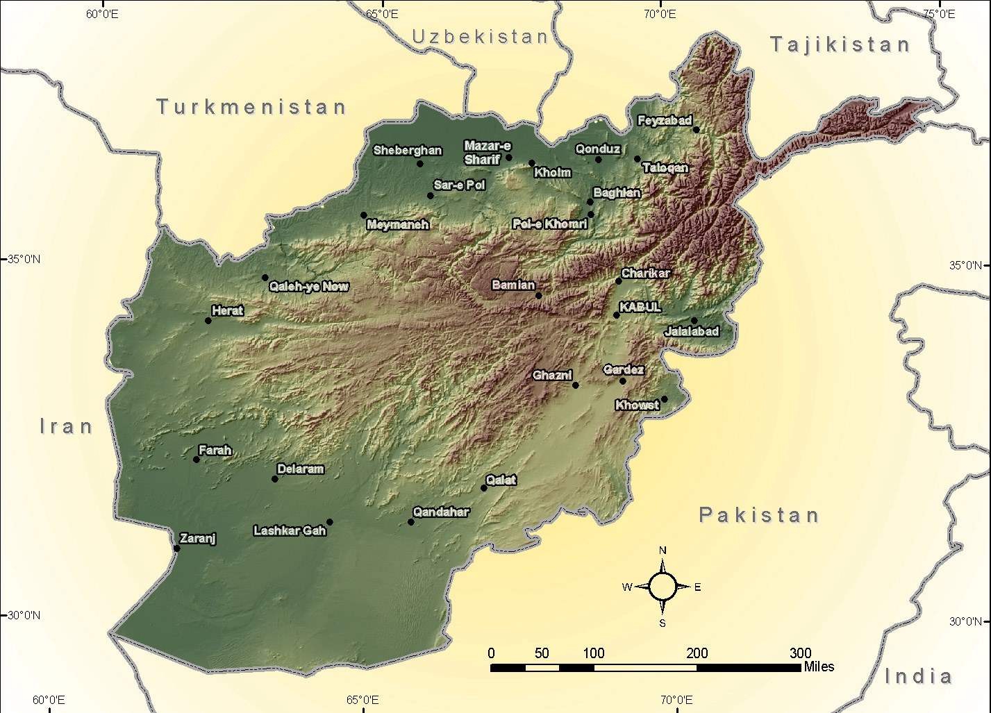 Map Afghanistan