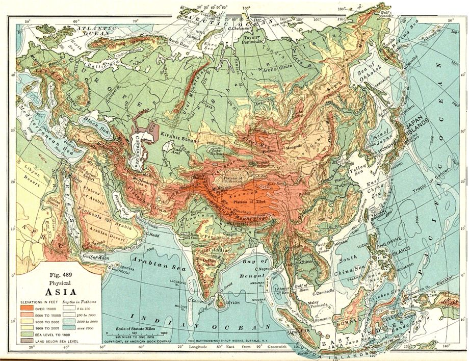 Asian geography map