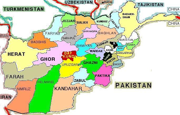 Ghurmapjpg - Physical map of afghanistan