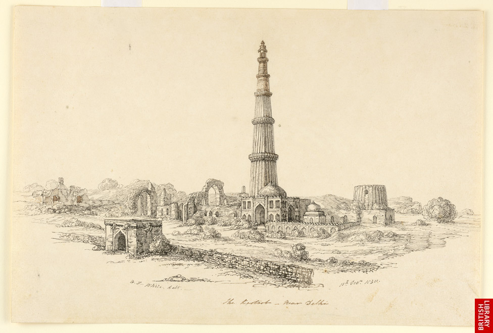 How to draw qutub minar Qutub Minar Sketch For Kids