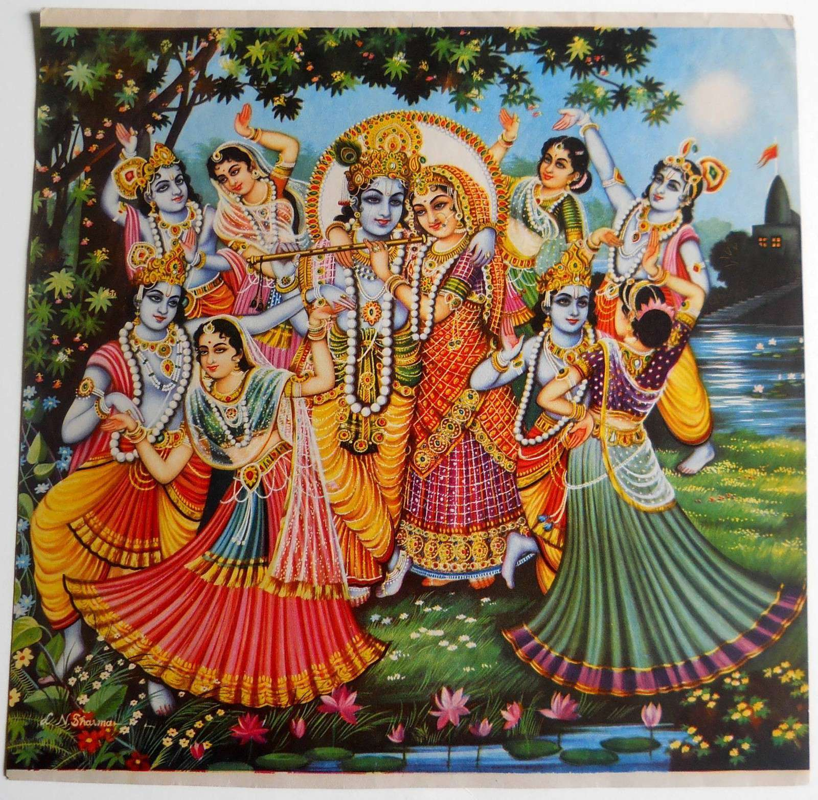 Latest Shri Krishna Rasleela Pictures for free download