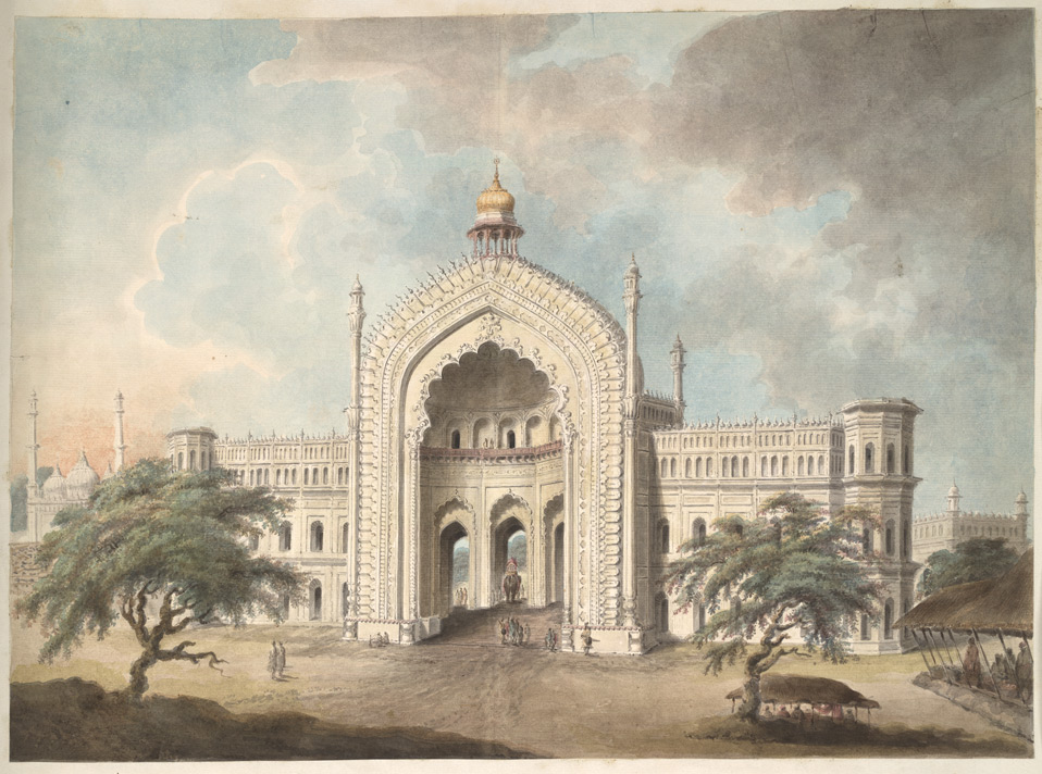 The Rumi Darwaza from the north-west; a watercolor by Seeta Ram, c.1814-15