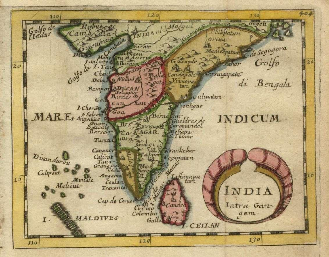 then and now maps of india and malabar 1574 to 1850 with place