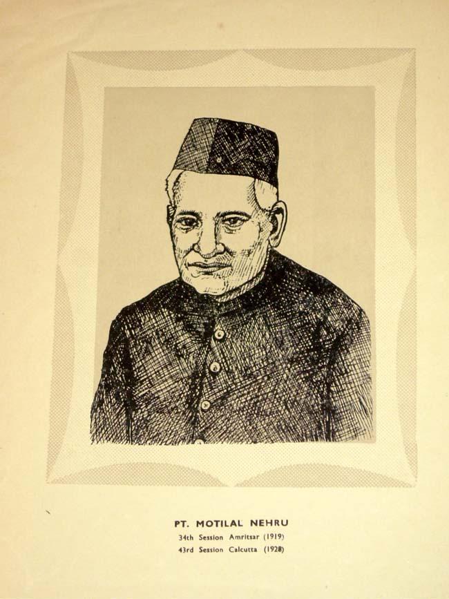Pandit Jawaharlal Nehru Drawing 1929 Pandit Jawaharlal