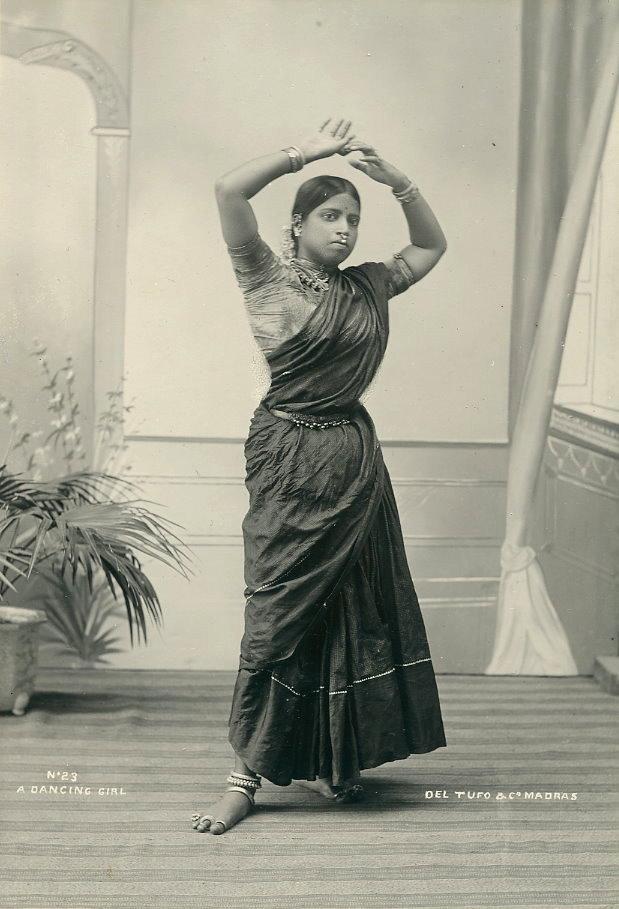 Studio Portrait Of A Dancing Girl Madras C1890s