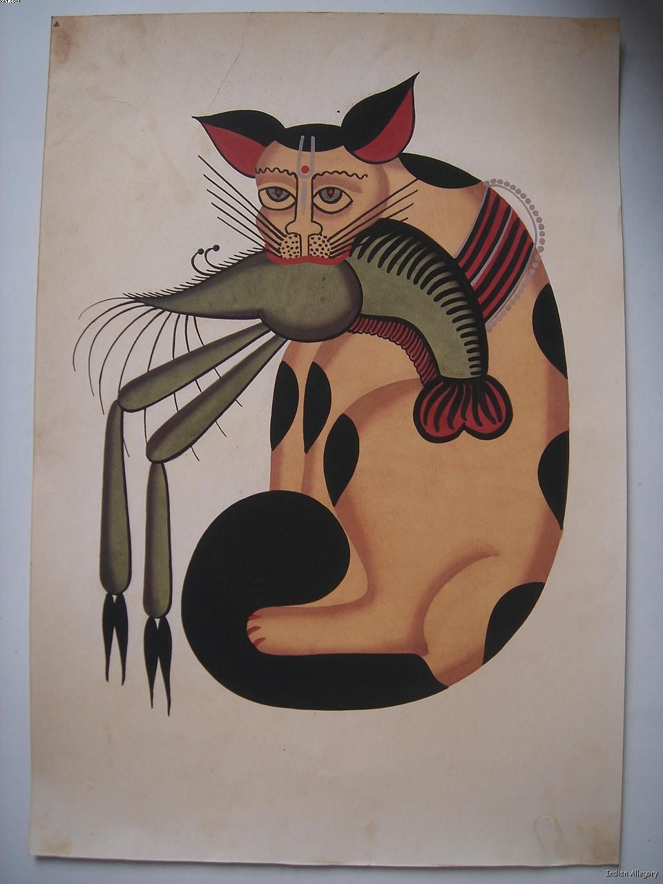 Nickyskye meanderings kalighat paintings from bengal india