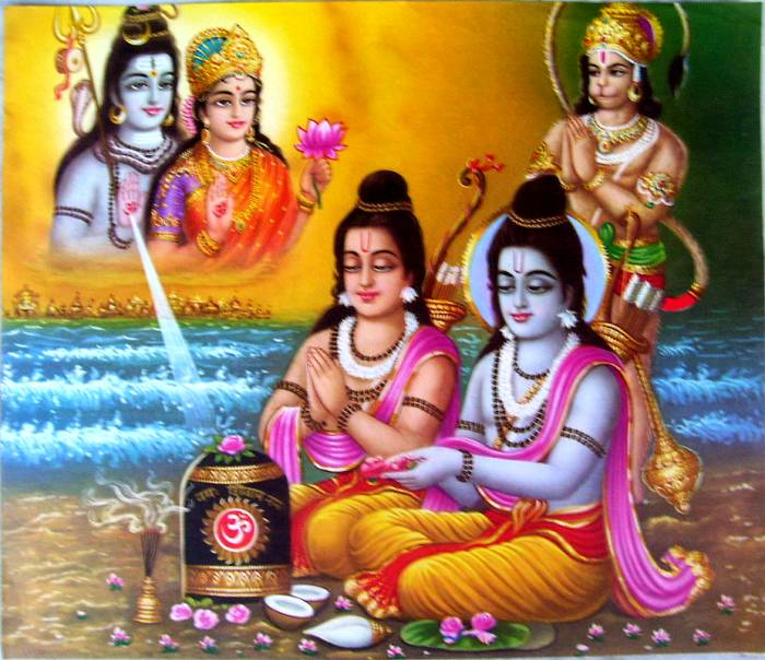 Famous Beautiful Shiva Worship Rama images for free download