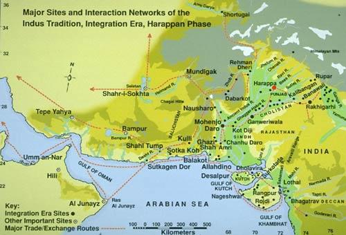 Ancient India Map Harappa.Maps