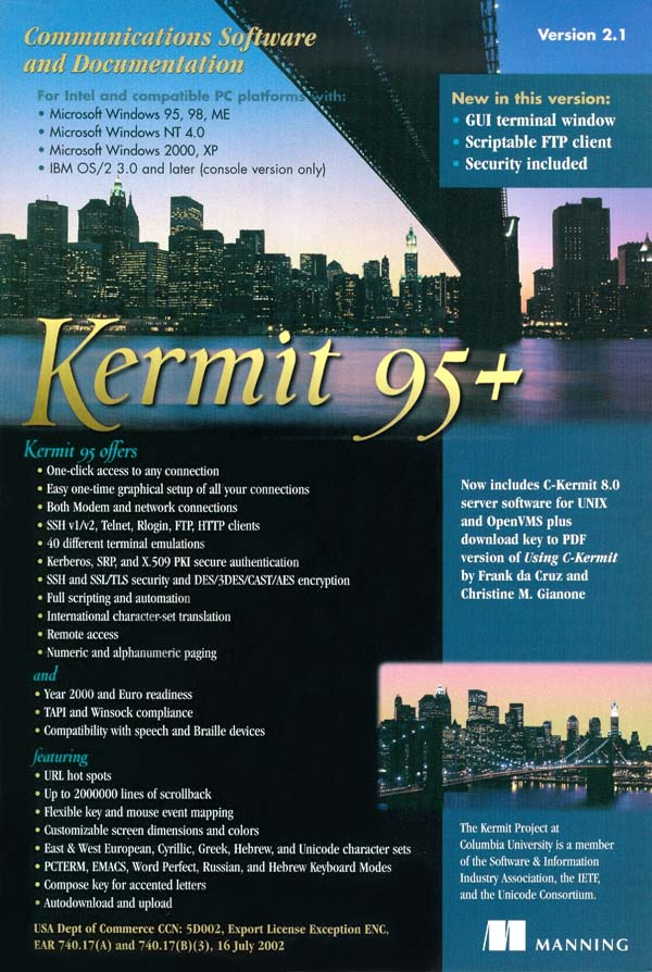 Kermit 95 2 1 - Terminal Emulation, File Transfer, and