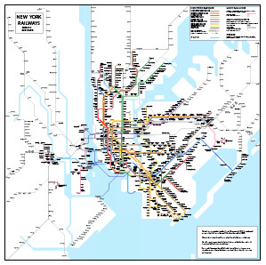 New York And Subway Map.New York Subway Diagram